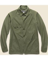 Monitaly Vancloth Poplin Coverall Jacket - Olive - Green