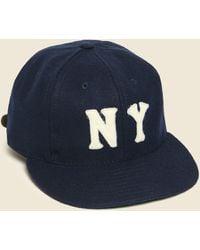 Ebbets Field Flannels Ny Black Yankees Wool Hat - Navy - Blue