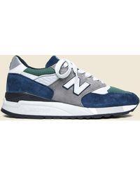 New Balance 998 Sneaker - Blue/green