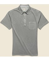 Faherty Brand Garment Dyed Polo Shirt - Ice Gray