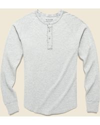 Save Khaki - Pointelle Henley - Heather Grey - Lyst