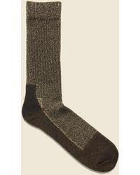 Red Wing Deep Toe Capped Wool Sock - Brown