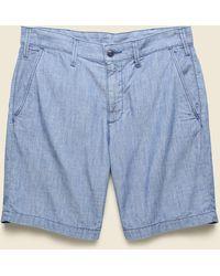 Save Khaki Chambray Bermuda Short - Indigo - Blue