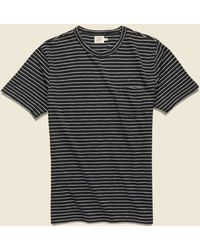 Faherty Brand Indigo Pocket Tee - Black/white
