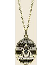 LHN Jewelry All Seeing Eye Pendant - Brass - Metallic