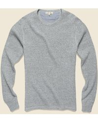 Alex Mill Waffle Crewneck - Heather Gray