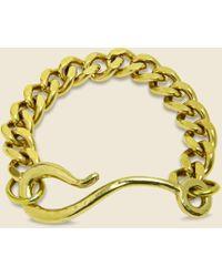 LHN Jewelry Large Hook Chain Bracelet - Brass - Metallic