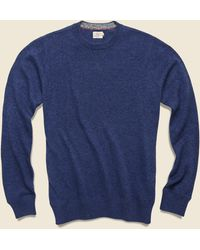 Faherty Brand Sconset Crew Sweater - Ocean - Blue
