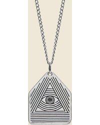 LHN Jewelry All Seeing Eye Pendant - Silver - Metallic