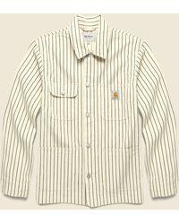 Carhartt WIP Trade Stripe Michigan Chore Coat - Wax/black - Natural