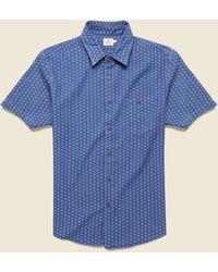 Faherty Brand Playa Shirt - Eco Indigo Geo - Blue