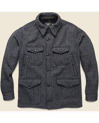 RRL Martin Wool-cotton Jacket - Indigo - Gray