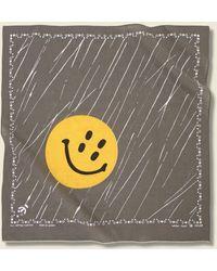 Kapital Rain Smile Selvedge Bandana - Khaki - Multicolor