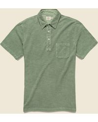 Faherty Brand Garment Dyed Polo Shirt - Spring Olive - Green