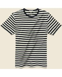 Alex Mill Striped Crew Tee - Anthricite/bone - Black