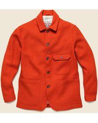 Universal Works Norfolk Tweed Bakers Jacket - Orange