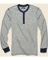 Levi's Henley - Pristine Stripe - Blue