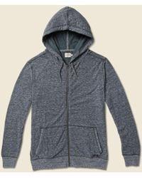 Faherty Brand Dual Knit Zip Hoodie - Washed Black