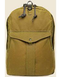 Filson Tin Cloth Journeyman Backpack - Tan - Green