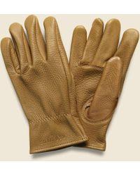 Red Wing Buckskin Unlined Gloves - Nutmeg - Multicolor