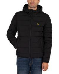 Lyle & Scott Lightweight Puffer Jacket - Black