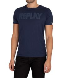 Replay Graphic T-shirt - Blue
