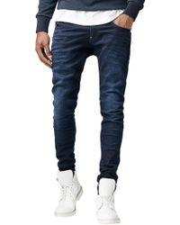 G-Star RAW - Dark Aged Revend Super Slim Superstretch Jeans - Lyst