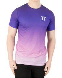 11 Degrees Purple Fade Sub T-shirt