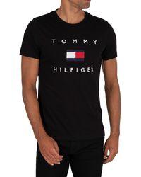 Tommy Hilfiger Flag T-shirt - Black