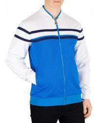 13bf6c8904 Fila Vintage Naso Chest Stripe Track Jacket in Black for Men - Lyst