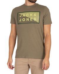 Jack & Jones Core Shawn Graphic Slim T-shirt - Green