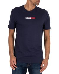 Tommy Hilfiger Embroidered Box Logo T-shirt - Blue
