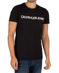 Calvin Klein Core Institution Logo T-shirt - Black