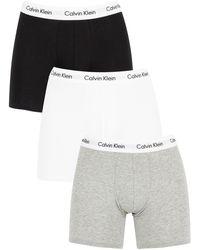Calvin Klein Men's 3 Pack Boxer Briefs - Multicolour