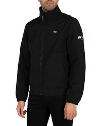 Tommy Hilfiger Essential Casual Bomber Jacket - Black