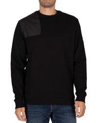 Lyle & Scott Ripstop Applique Sweatshirt - Black