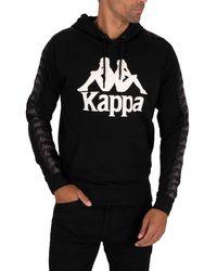 Kappa 222 Banda Hurtados Pullover Hoodie - Black