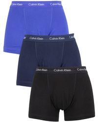 Calvin Klein 3 Pack Trunks - Blue