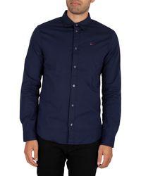 Tommy Hilfiger Original Stretch Slim Shirt - Blue