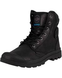Palladium Pampa Cuff Wp Lux Leather Boots - Black