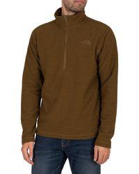 The North Face Textured Cap Rock 1/4 Zip Sweatshirt - Green