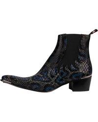 Jeffery West Creek Leather Chelsea Boots - Black
