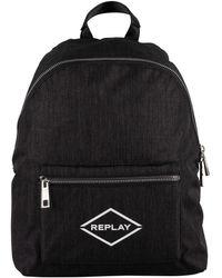 Replay Logo Backpack - Grey