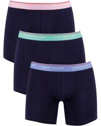 Tommy Hilfiger 3 Pack Premium Essentials Boxer Briefs - Blue