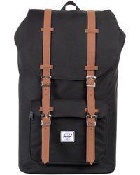 Herschel Supply Co. - Black/tan Little America Straps Backpack - Lyst