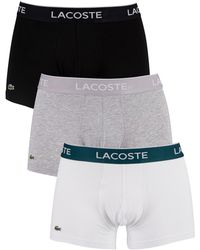 Lacoste 3 Pack Boxer Shorts - Multicolour