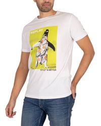 Replay Graphic T-shirt - White