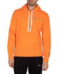 Champion Comfort Chest Logo Pullover Hoodie - Orange