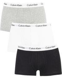 Calvin Klein 3-pack Simple Trunks - White