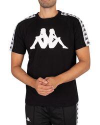 Kappa 222 Banda Dobrev T-shirt - Black
